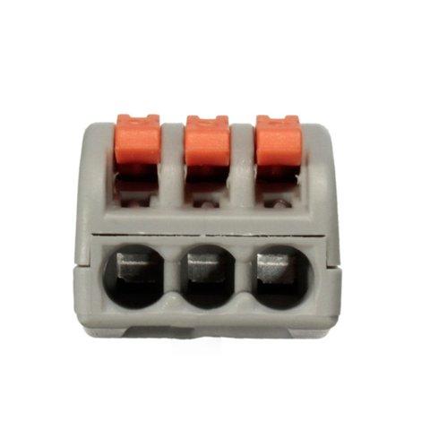 Прямий 3-контактний конектор для з'єднання проводів 250 В 30 А Прев'ю 2