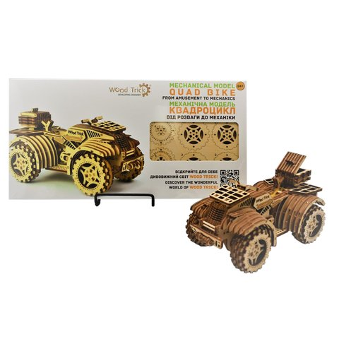 Механічний 3D-пазл Wood Trick Квадроцикл