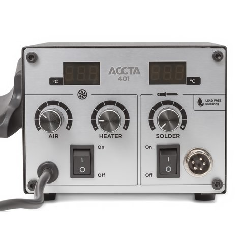 Estación de soldadura de aire caliente Accta 401A (110 V) Vista previa  7