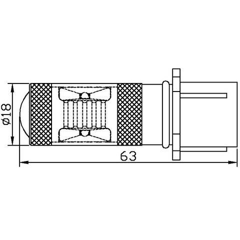 LED Fog Light UP-7G-P13WB-30W (white, 12-24 V) Preview 1